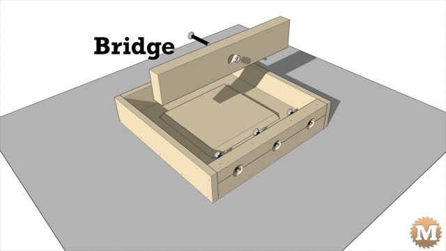 The bridge holds the stretcher bolt while pouring concrete