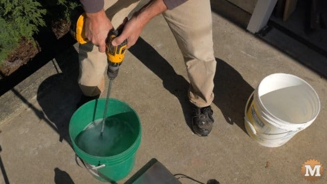 Blending foaming agent dilution for aircrete