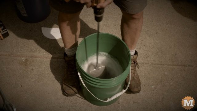 Easy way to make foam in a pail