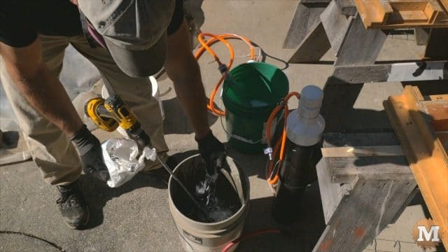 Adding pinch of glass fibre to cement slurry