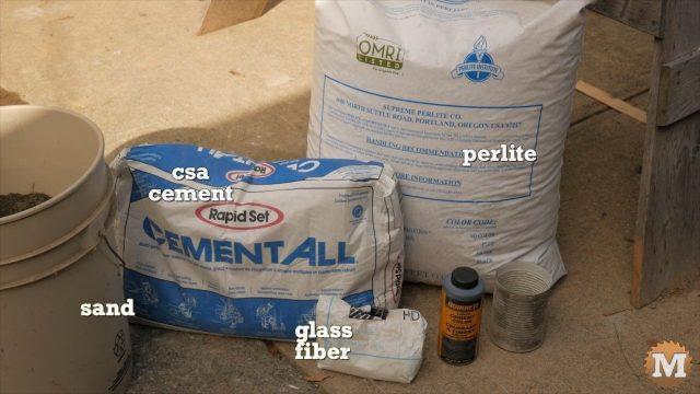 Lightweight Perlite CSA Concrete Ingredients