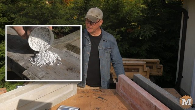 perlite is a very light rock and makes a great additive for concrete