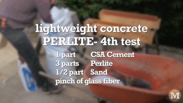 Lightweight Perlite CSA Concrete Formula