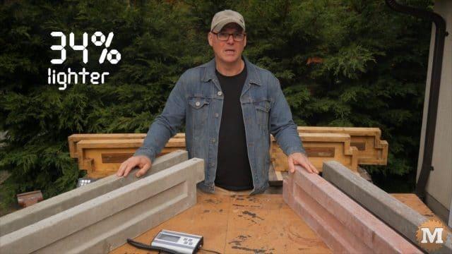 Perlite Concrete garden panels are 34% lighter