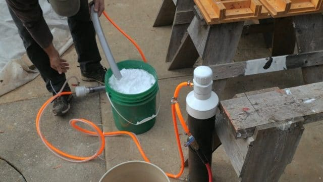 Making aircrete foam with the Foam Mate and an air compressor