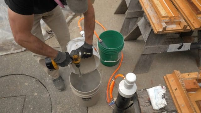 Pour dry Cement All into water