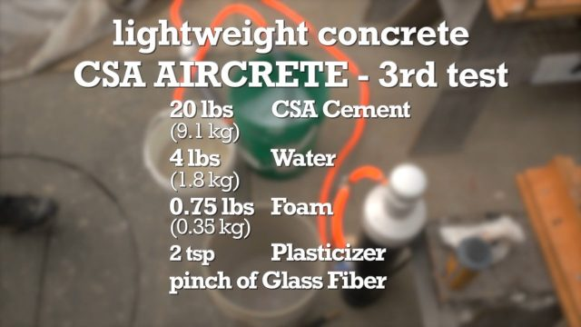 Increase the density in last CSA Aircrete formula
