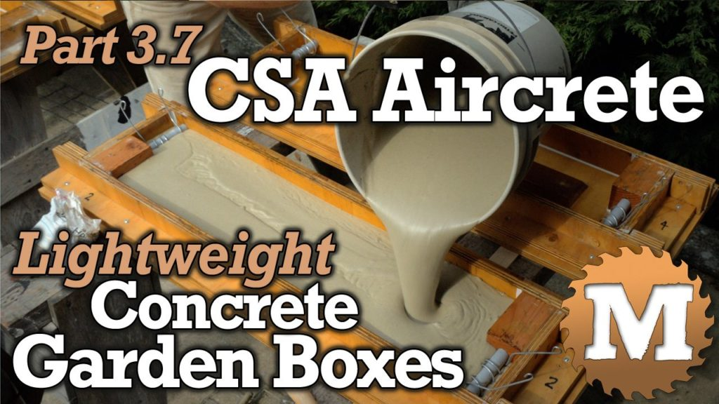 YouTube Thumbnail CSA Aircrete Lightweight Concrete Garden Boxes - MAN about TOOLS