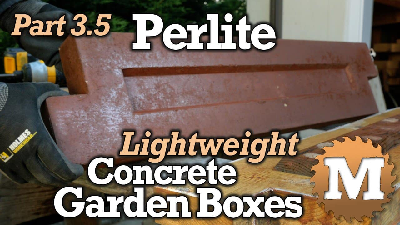 YouTube Thumbnail Perlite Lightweight Concrete Garden Boxes - MAN about TOOLS