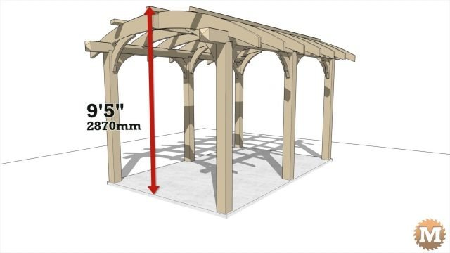 Overall height of pergola