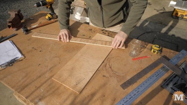 Sweeping the curves on the plywood