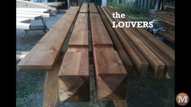 Louvers beside the main beams and ridge beam