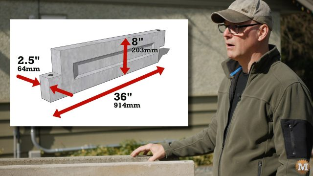 Size of the Concrete Garden Box Panels to be checked
