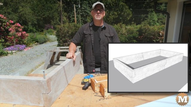 Concrete Garden Box Simple Form.1083
