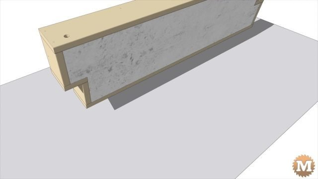Sketchup animation of concrete panel mold parts