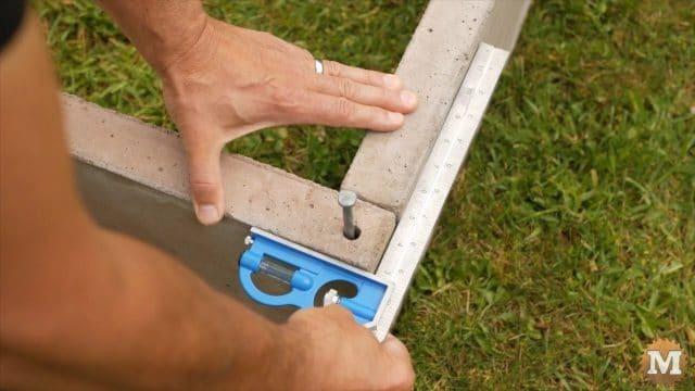 DIY Concrete Garden Box Easy Form - check for square