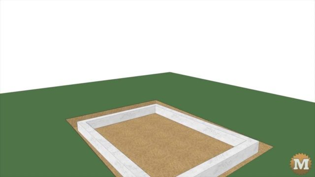 Rainwater tank footing animation