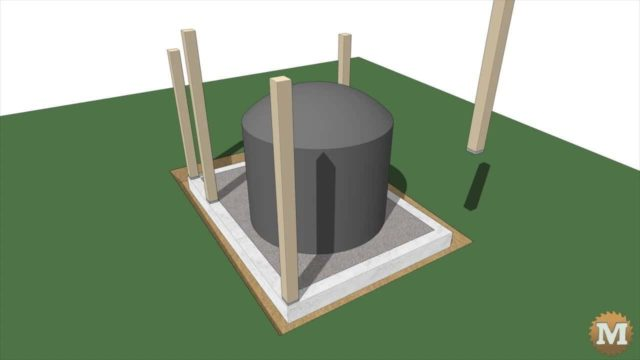 animation showing the assembly of tank surround