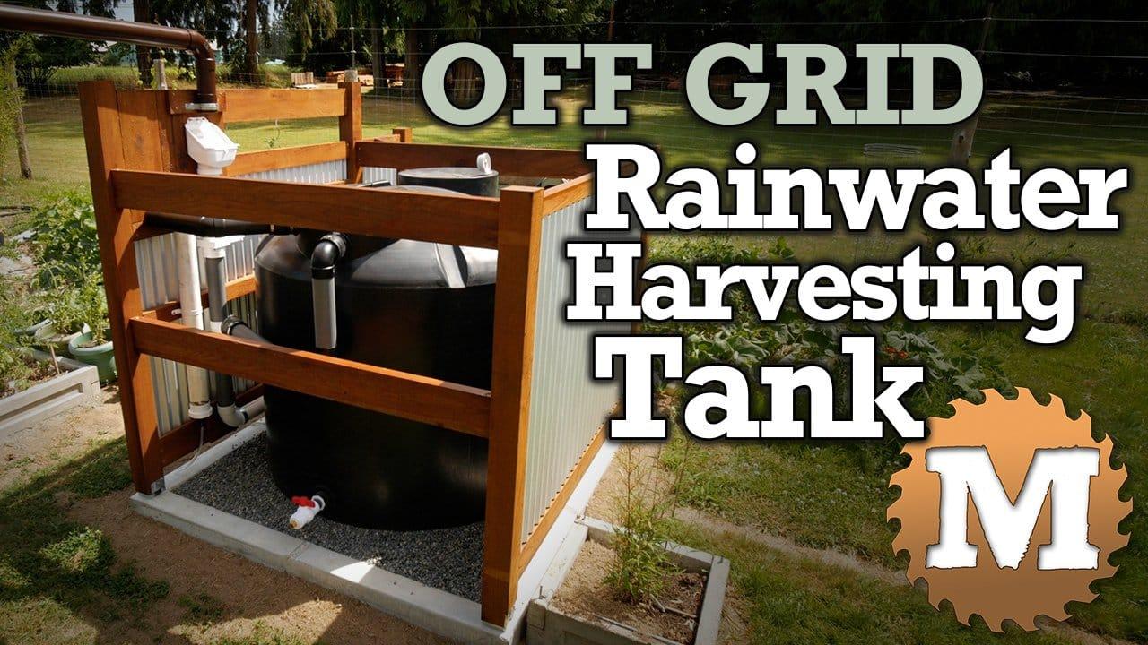 blog Off Grid Rainwater Harvesting tank Part 1 V1