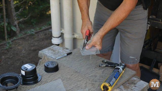 Add an RV tank vent to the rainwater tank