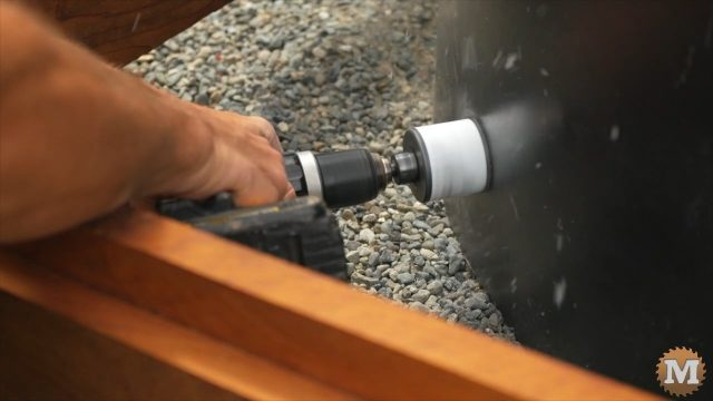hole saw to drill tank for bulkhead fitting
