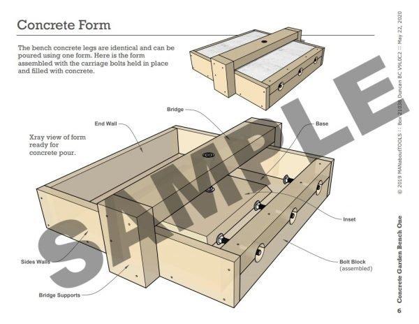 Concrete Garden Bench One 02