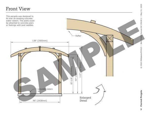 Curved Pergola 05