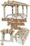 Pergola Design with Curved Cedar Rafters