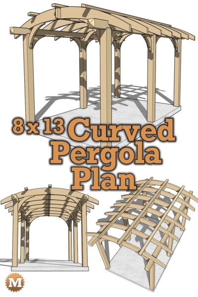 Pergola Design with Curved Cedar Rafters