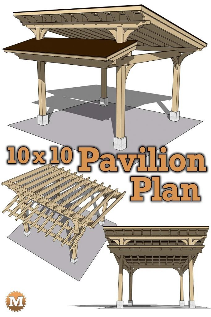 Timber Frame Style Pavilion Plan for Garden or Patio