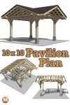 Three Gable Timber Frame Style Pavilion Plan